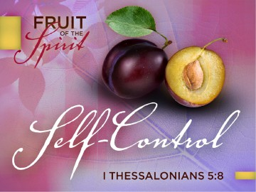 Self Control Fruit Of The Spirit Powerpoint Slides