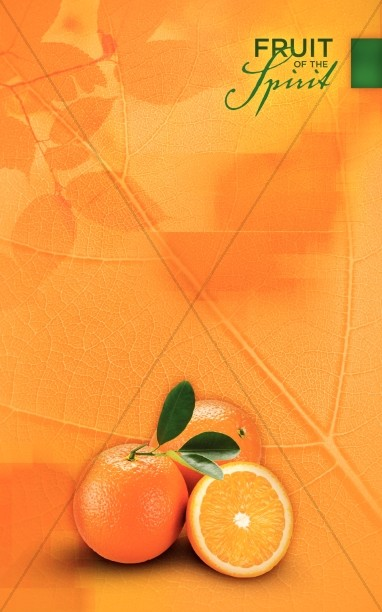 Orange Fruit Of The Spirit Bulletin Cover