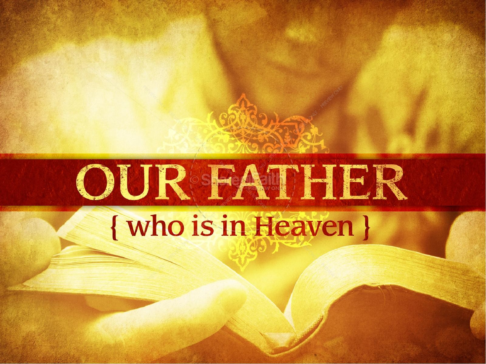 Our Father In Heaven PowerPoint Template | slide 2