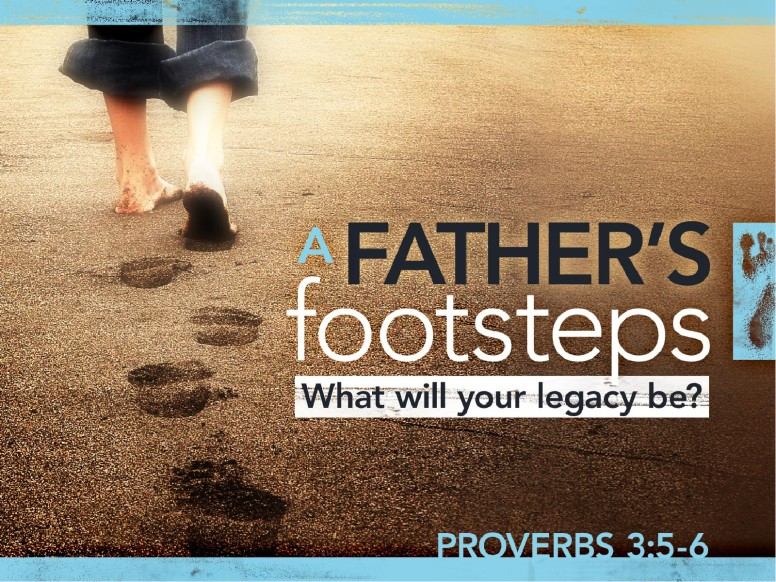 A Fathers Footsteps PowerPoint Template