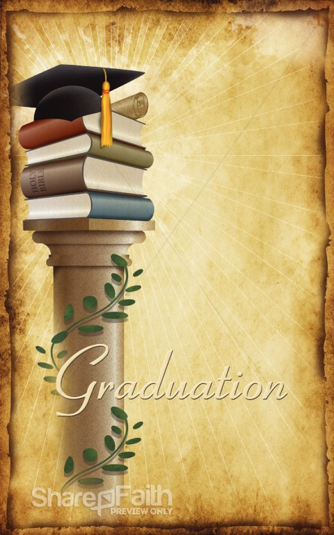 Graduation Program Bulletin Cover Secular Holiday