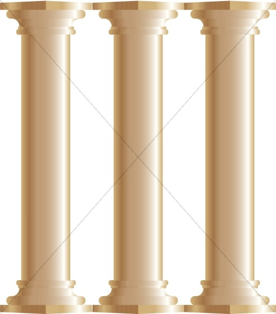 Pillars Of Knowledge Clip Art