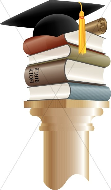 Books And Cap Graduation Clip Art