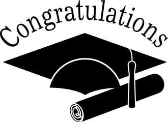 Congratulations Grads Black and White Clip art