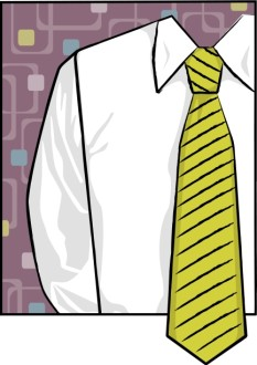 Shirt and Green Tie Father's Day Clipart