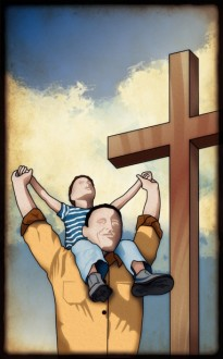 Father And Son Cross Bulletin Cover