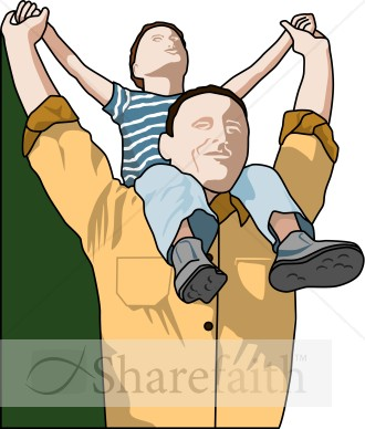 Father's Day Piggy Back Clip Art