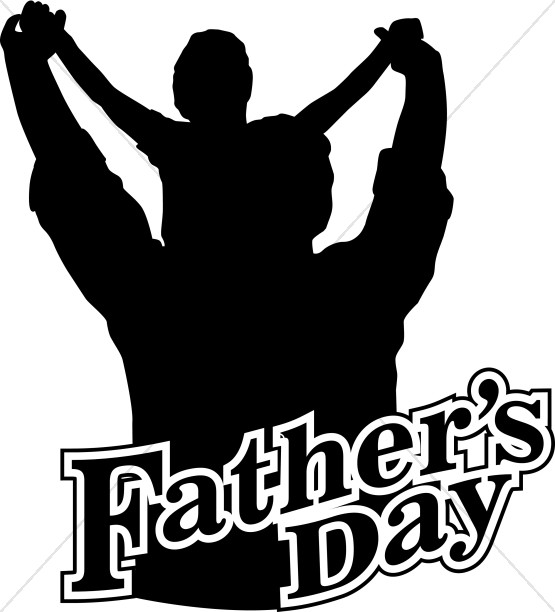 Father's Day Silhouette Clip Art