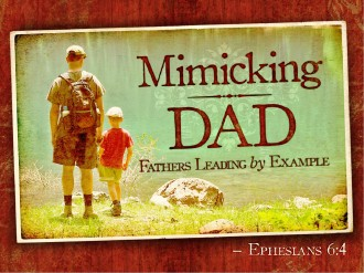 Mimicking Dad Father's Day PowerPoint Template