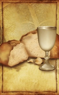 Bread and Cup Communion Bulletin Cover