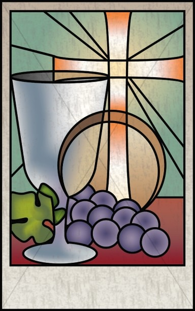 Communio Stained Glass Bulletin Cover