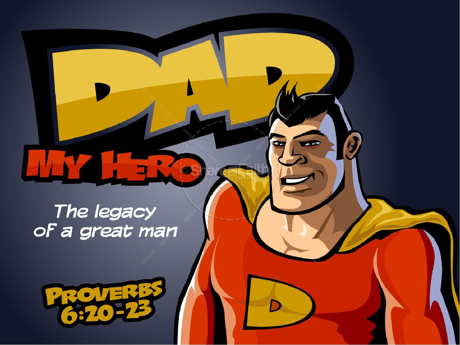 Super Dad Powerpoint Template | slide 1