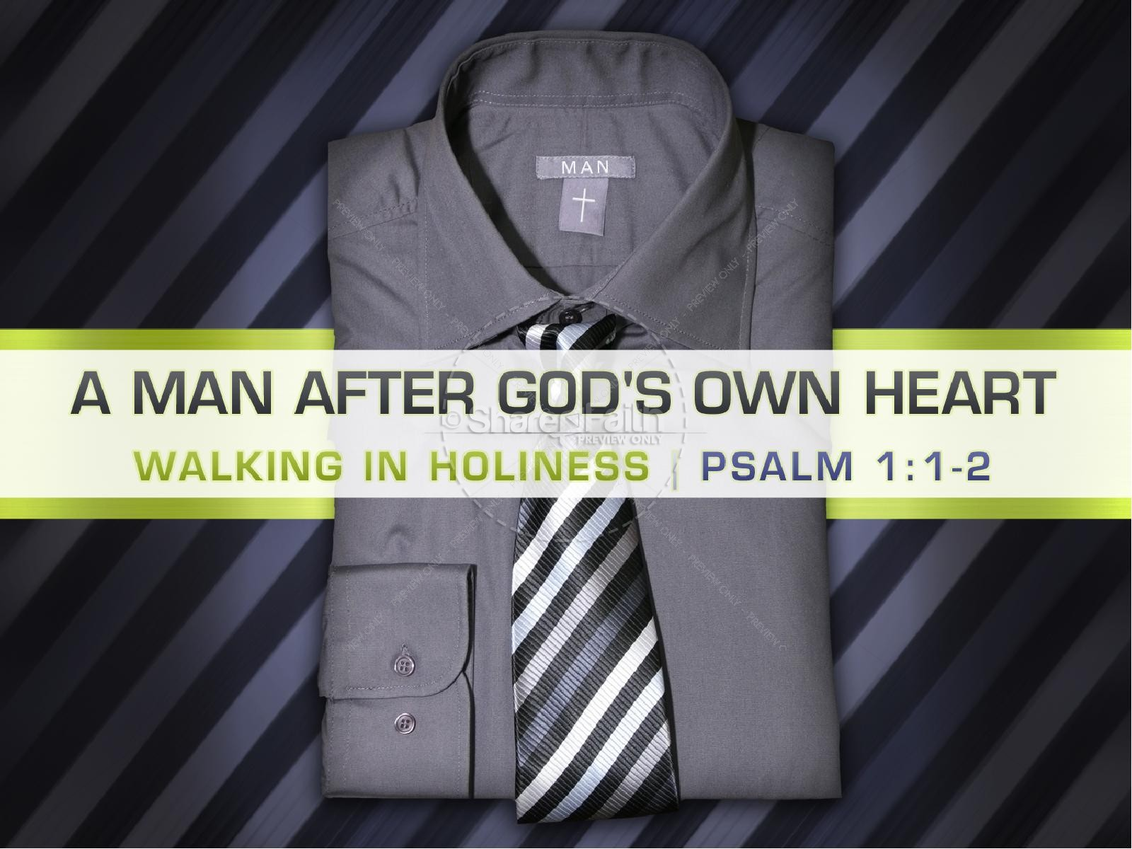 Man After God's Heart PowerPoint Template