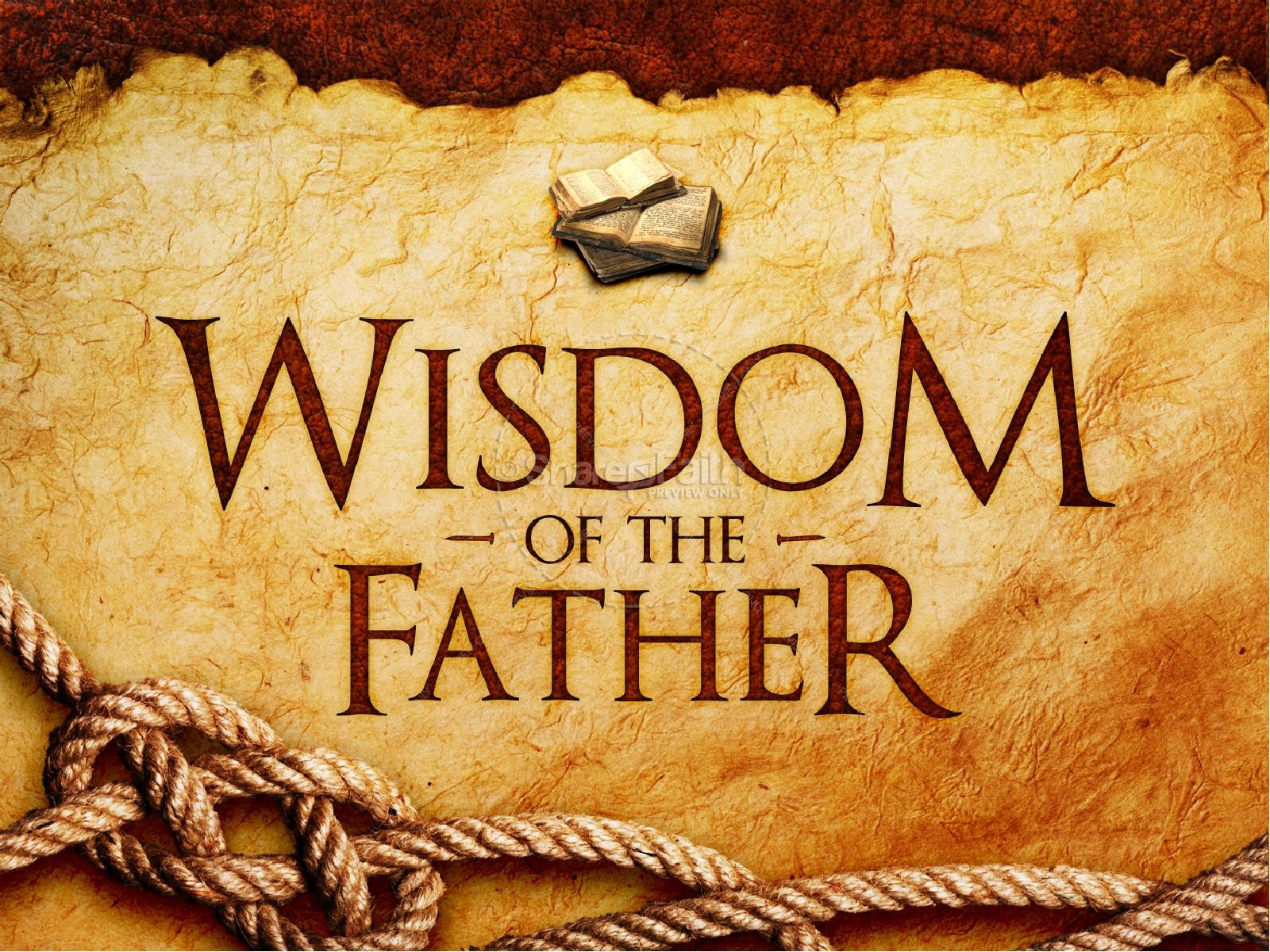 Wisdom Of The Father PowerPoint Template | slide 3