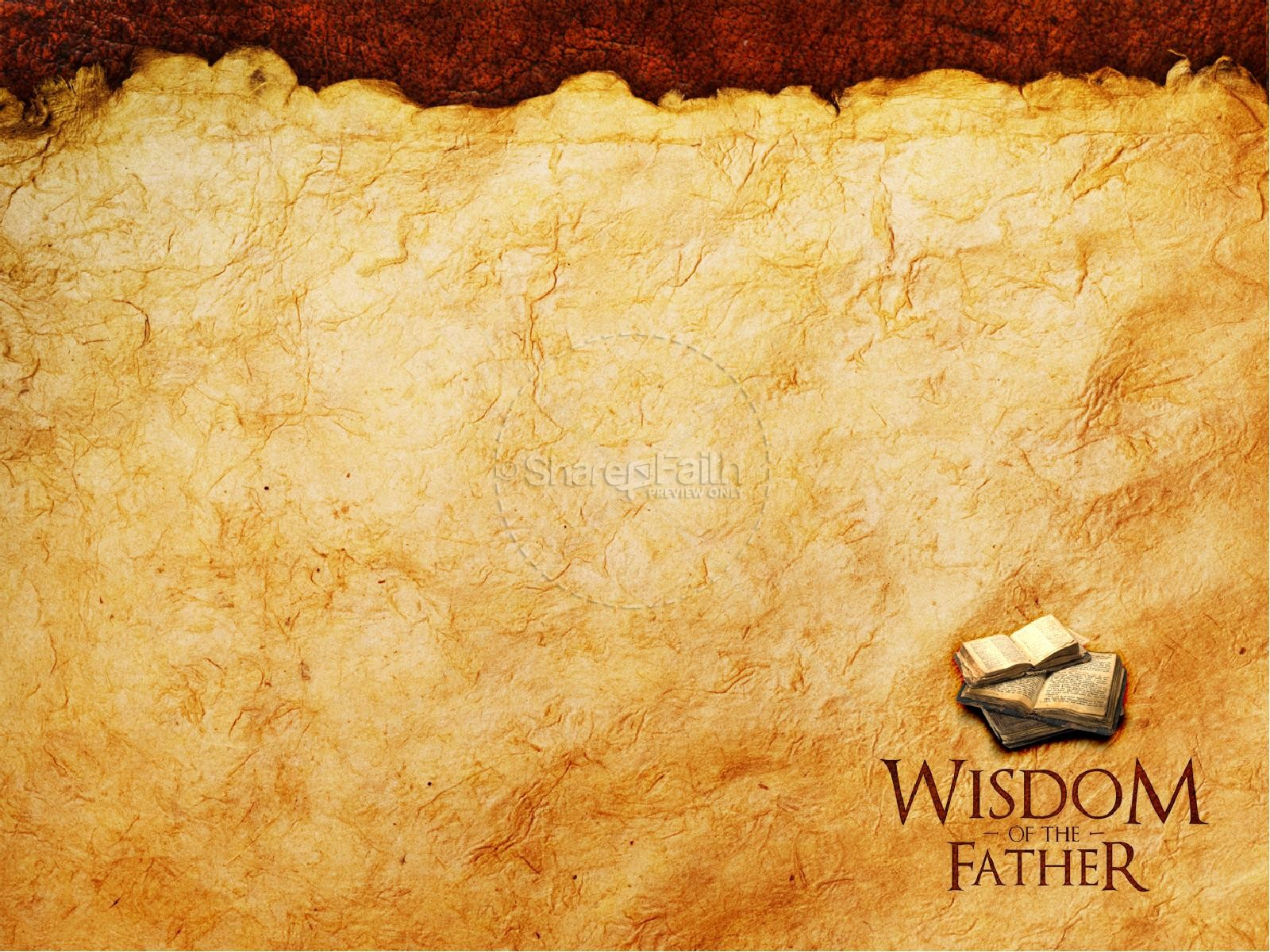 Wisdom Of The Father PowerPoint Template