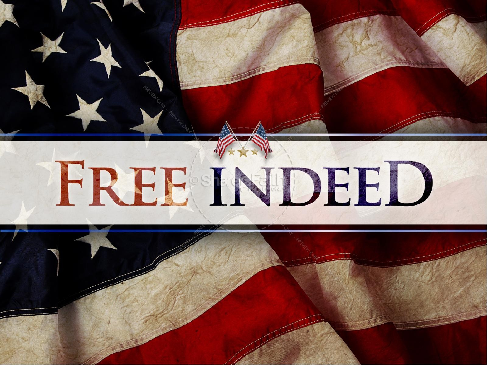 Free Indeed Independance Day PowerPoint Template | slide 1