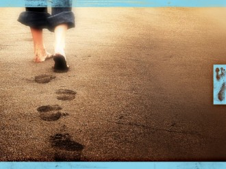 A Father's Footsteps Worship Background Slide