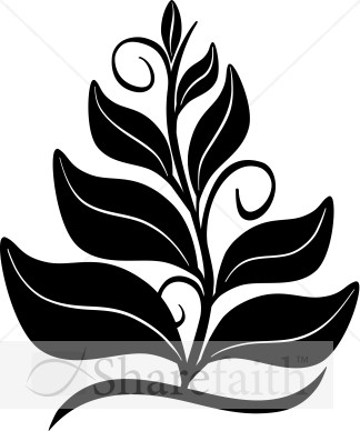 Growing In The Spirit Black and White Clipart