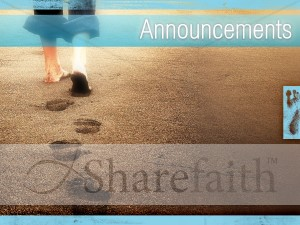 A Father's Footsteps Church Announcement  Background