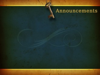 Equipped By The Spirit Church Announcement Background