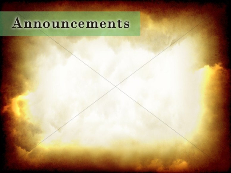 The Comforter Has Come Announcement Background
