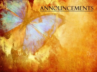 Eternal Hope Church Announcement  Background