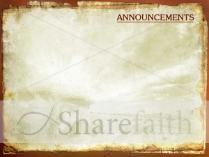 Resurrection Easter Church Announcement Backgrounds