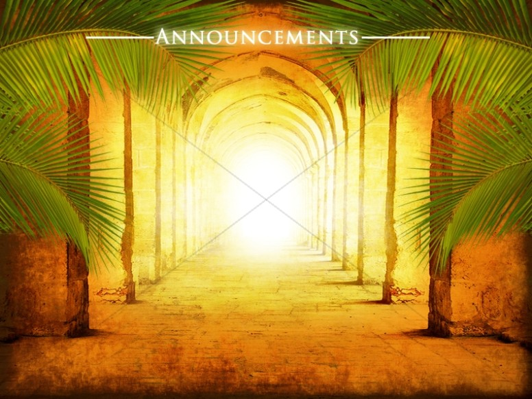 Hosanna Church Announcement Template