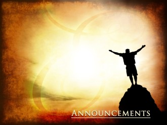 High And Exalted Church Announcement Background