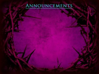 Crown Of Thorns Church Announcement Background