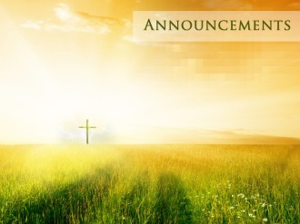 Easter Church Announcement Slide