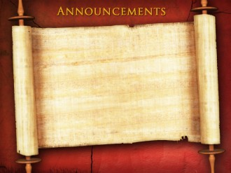 Messianic Announcement Background Slide