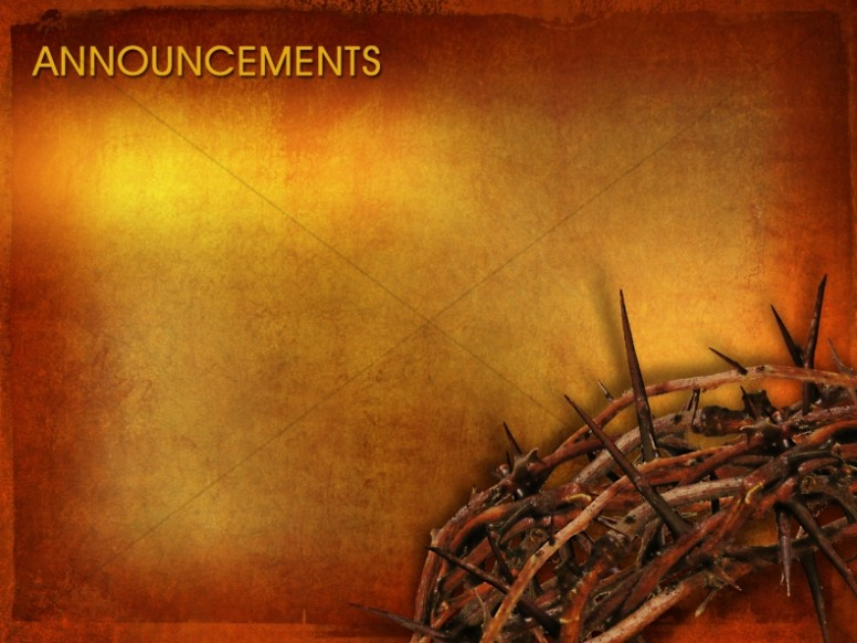 Good Friday Announcement Background Slide