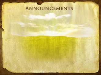 Yeshua Passover Announcement Background