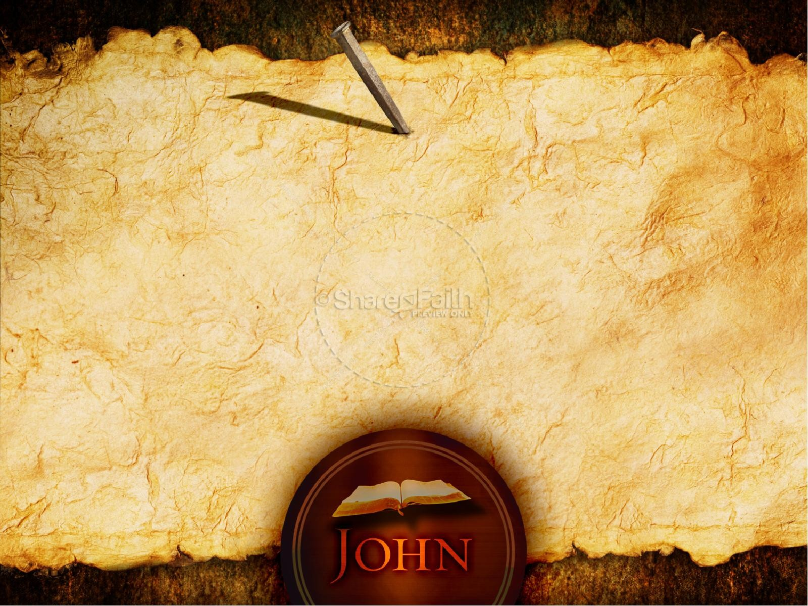 Johns Gospel PowerPoint Template New Testament Books
