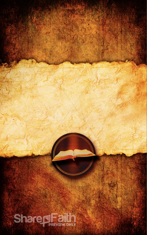 The Gospels Series Bulletin Cover Template