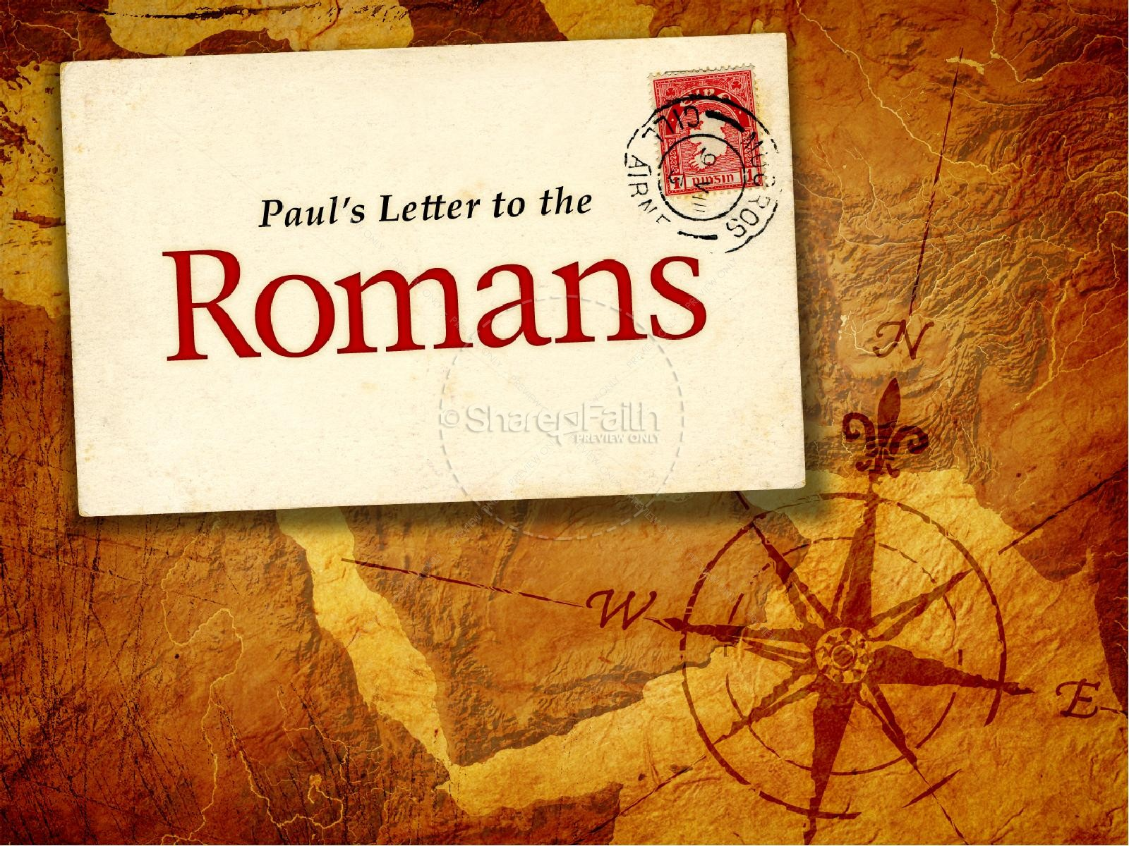 Letter To The Romans PowerPoint Template | New Testament Books