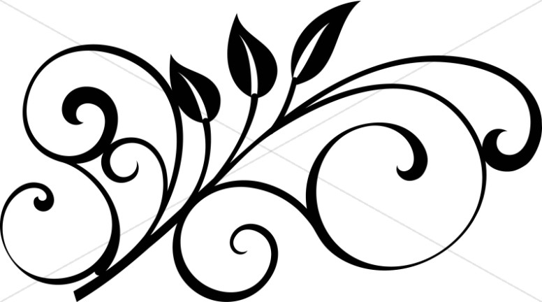 Sky And Earth Black And White Clipart