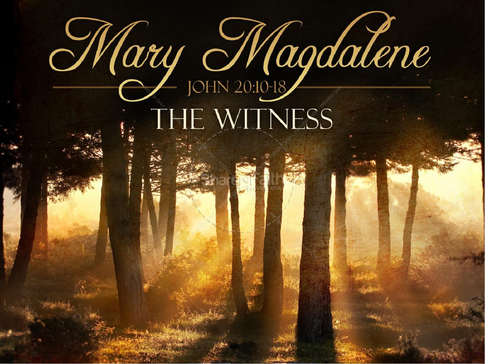 Mary Magdalene PowerPoint Template | slide 1
