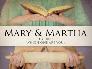 Mary And Martha PowerPoint Template