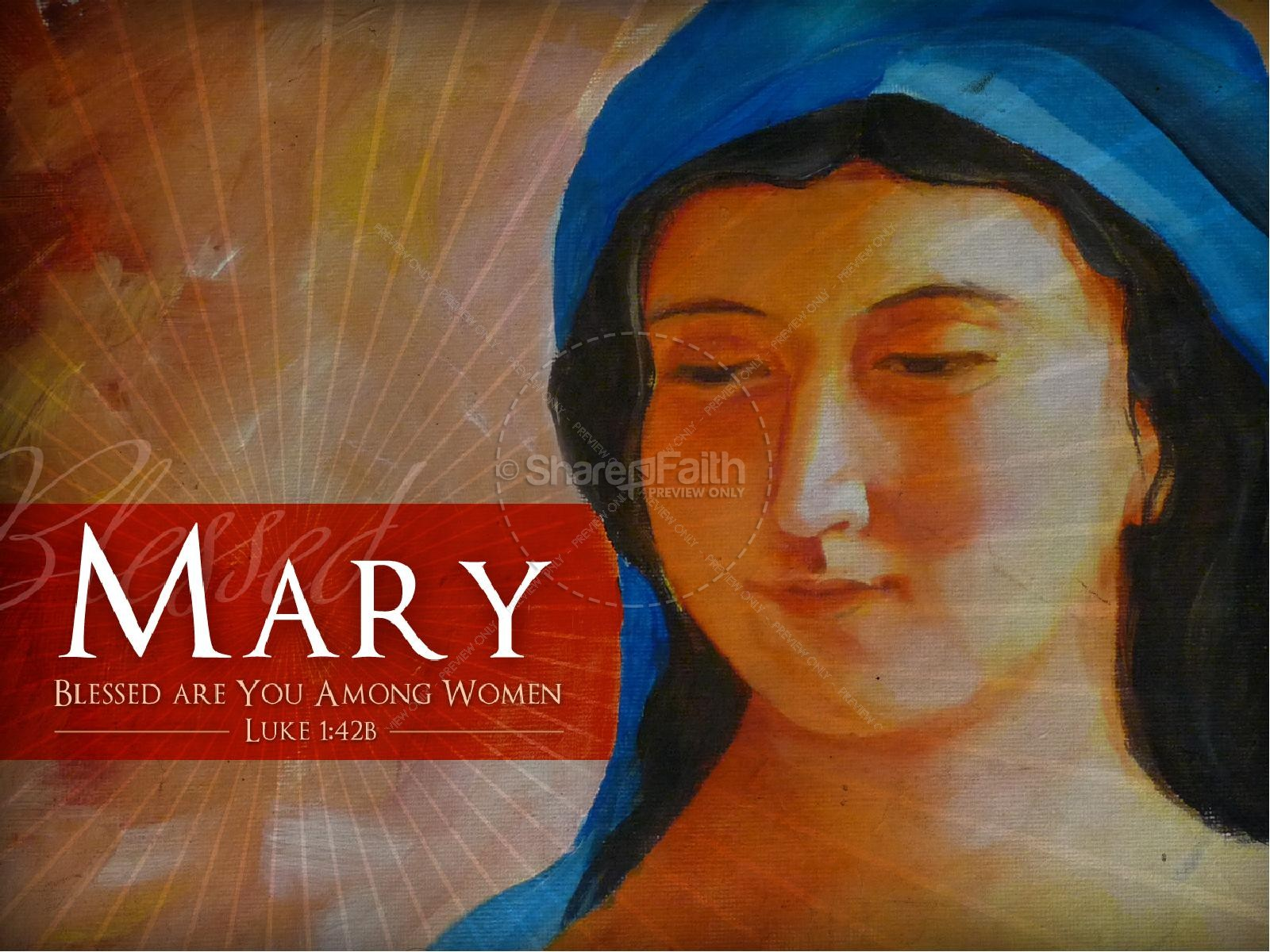 Mary Mother of Jesus Bible Women Of Faith PowerPoint Template