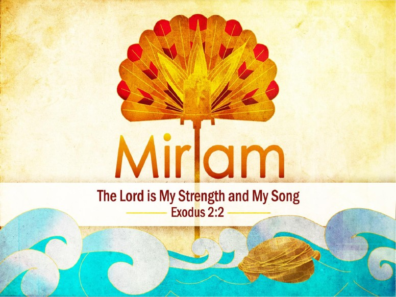 Miriam Sister of Moses Woman Of Faith PowerPoint Template
