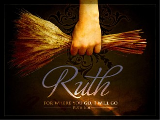 Ruth and Naomi Women Of Faith PowerPoint Template