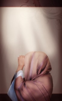 Woman Praying Bulletin Cover