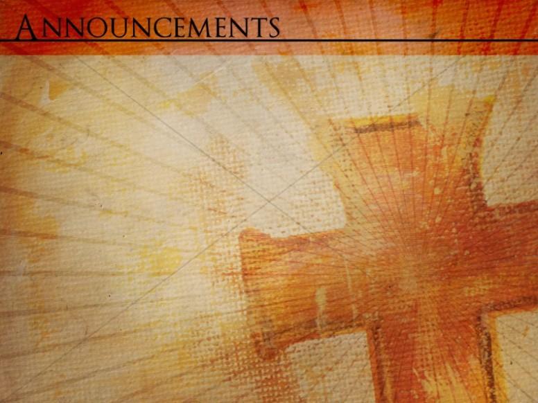 Cross Light Rays Church Announcement Slide