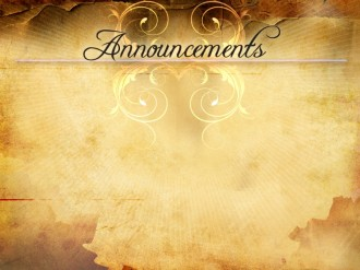 Parchment Design Church Announcement Template