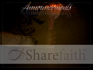 Gleaning Church Announcement Background