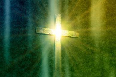 Glowing Cross Worship Video Background