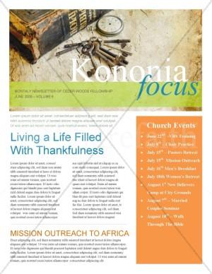 Bible Church Newsletter