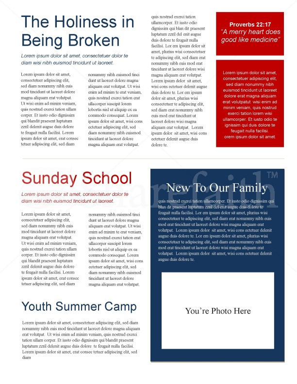 Sun Rays Church Newsletter